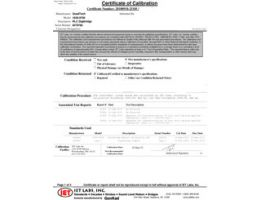 NIST Traceable Calibration Cert (jetzt enthalten)