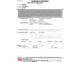 NIST rückführbare Kalibrierung Cert (im Lieferumfang enthalten)