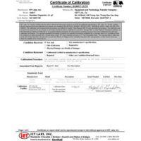 ISO-17025 Akkreditierte Kalibrierung mit Testdaten
