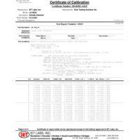 Z540 Kalibrierungstestdaten